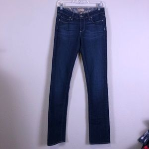 PAIGE Peg Straight Leg Dark Wash Jeans 27